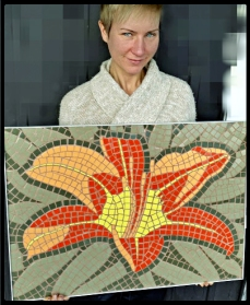 tile-contractor-mosaic-art-lily-flower-Kim