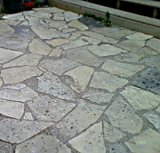 September 2016 Flagstone pathway