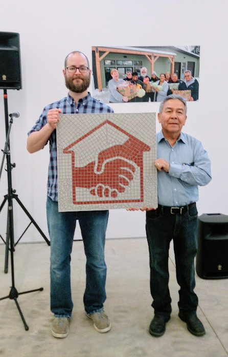 mosaic-logo-plaque-corporate-community-art-donation-foodbank-HouseofFriendship