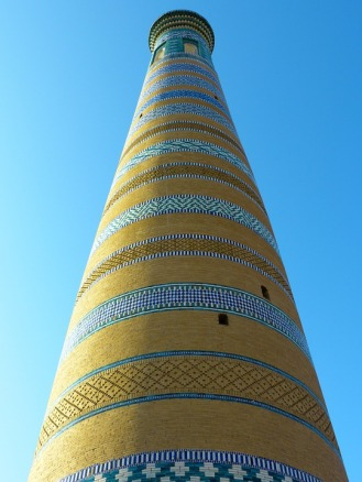 Courtesy of Max Pixel photo, Khiva Mosaic Chodja Islam Minaret